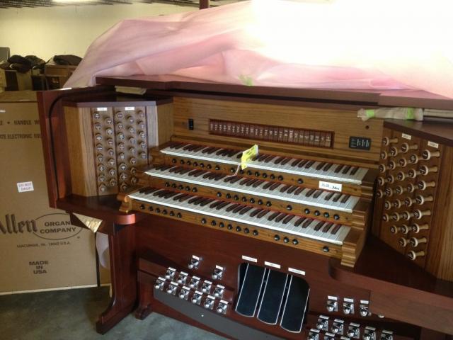 Allen Organ for Sacred Heart Church in Anniston, Alabama