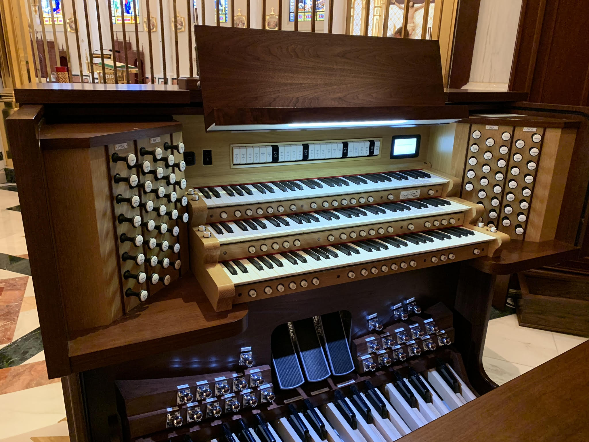 Allen GeniSys Custom Organ at Our Lady of the Angels Monastery in Alabama
